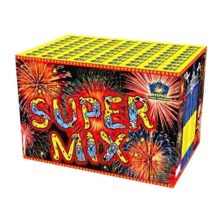 Купить фейерверк Салютная установка 39-зар. Super Mix Доставка фейерверков по Украине на любой праздник.