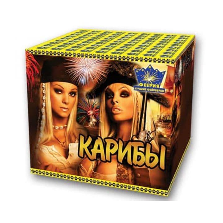 Купить фейерверк Салютная установка 49-зар. Карибы Доставка фейерверков по Украине на любой праздник.