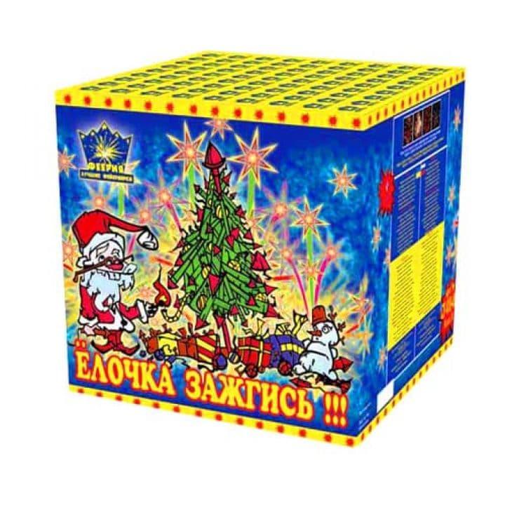 Купить фейерверк Салютная установка 49-зар. Елочка Доставка фейерверков по Украине на любой праздник.