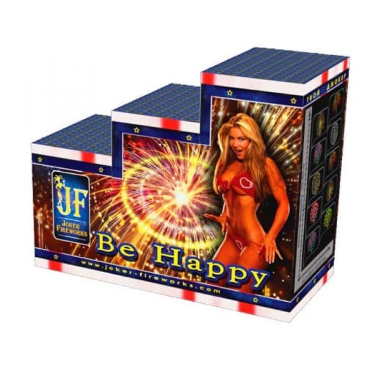 Купить фейерверк Салютная установка 44-зар. Be happy Доставка фейерверков по Украине на любой праздник.