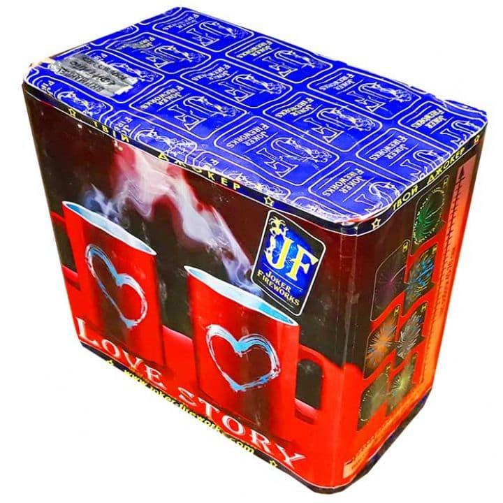 Купить фейерверк Салютная установка 28-зар. Love Story Доставка фейерверков по Украине на любой праздник.