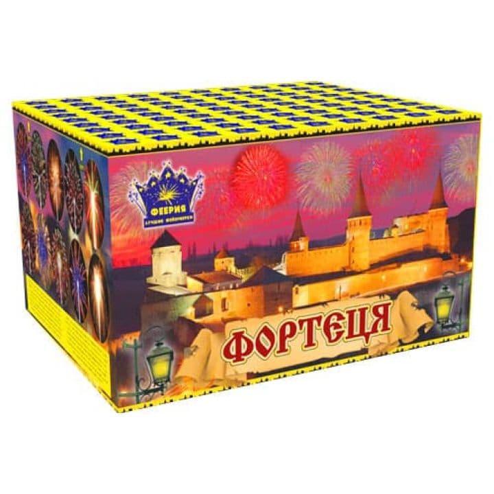 Купить фейерверк Салютная установка 100-зар. Фортеця Доставка фейерверков по Украине на любой праздник.