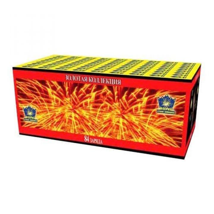 Купить фейерверк Салютная установка 87-зар. Золотая коллекция Доставка фейерверков по Украине на любой праздник.